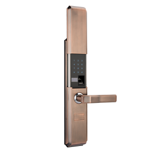 ALLAMODA outdoor electric gate lock mechanical fingerprint door code and  key lock with code