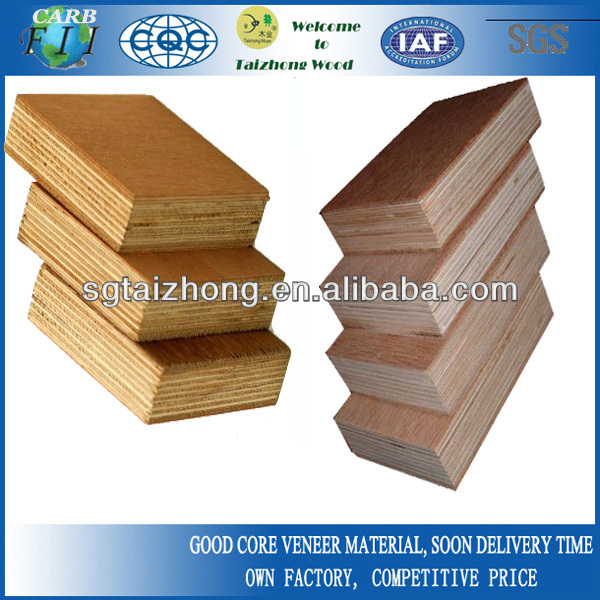 Hardwood core container floor plywood with keruing veneer