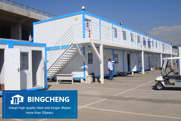 20ft/40ft durable vorgefertigte container hause büro container kabine 40ft flache-pack arbeitslager fertig container