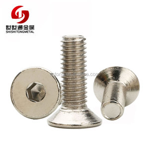 304 Stainless Steel m2 m3 m4 m6 m10 Din 7991 Hex Socket Flat Head Screw