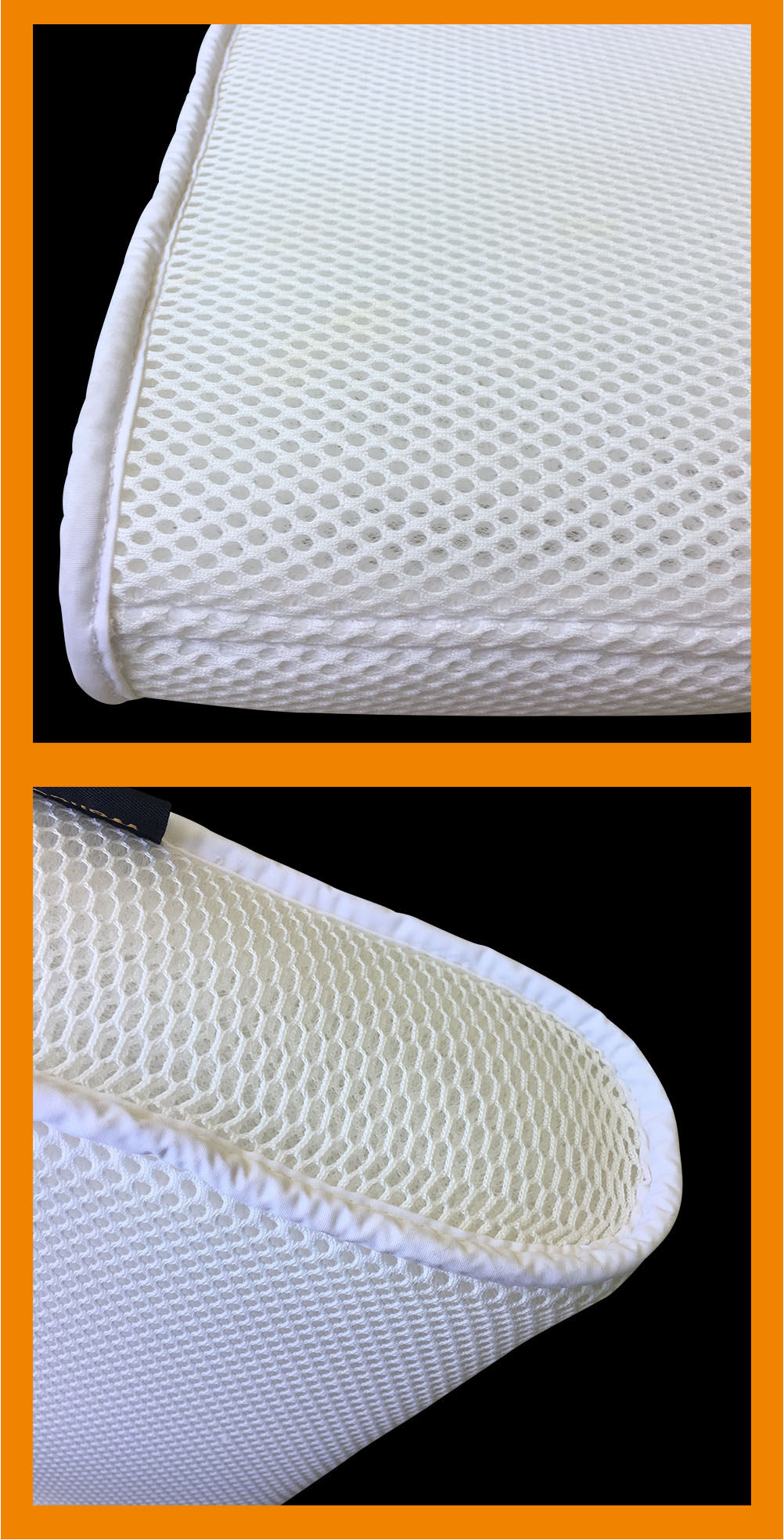 Rectangle shape warp knitted spacer washable cooling custom air mesh pillow 3d