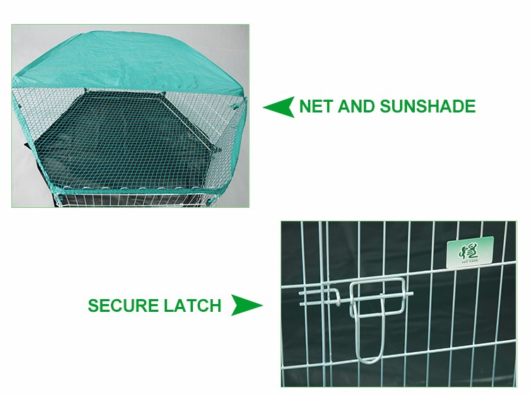 outdoor galvanized folding rabbit hutch for sale manufacturer