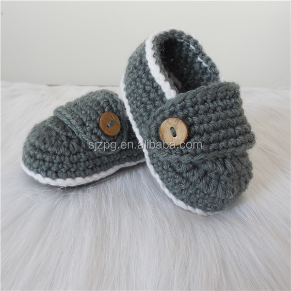 Custom Made Crochet Loafers for Baby Boys