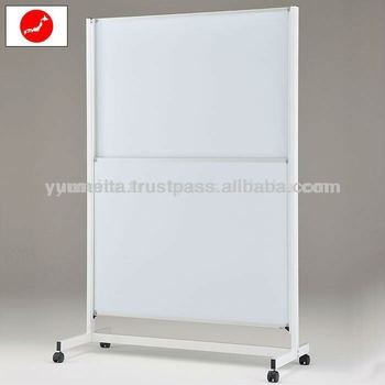 Japanese High-Quality Office Furniture Free Standing Sliding White Markerboard with Magnetic Whiteboard Eraser