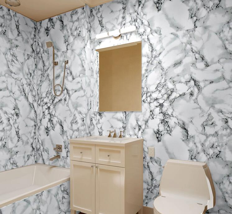 Great Can Keep Many Years Bathroom Stone Wallpaper Cheap Design Wallpaper