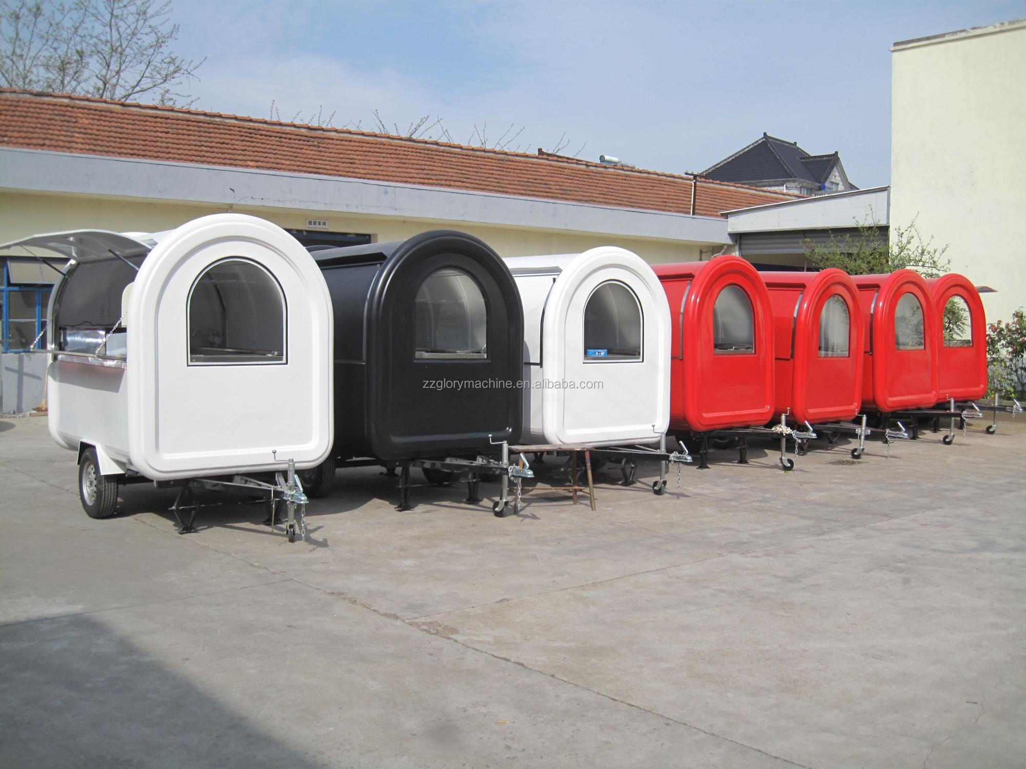 China Supplier CE Certificate Custom Street Mobile Food Truck, Mini Mobile Fast Food Cart Trailer For Ice Cream, Hot Dog