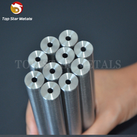 ASTM F136 Titanium cannulated bar / rod titanium hollow bar gr2 gr5 wholesale titanium rod/bar