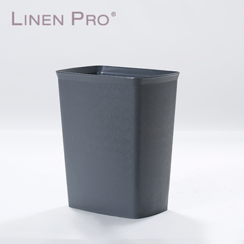 Common hotel used black color waterproof kitchen trash recycle bin