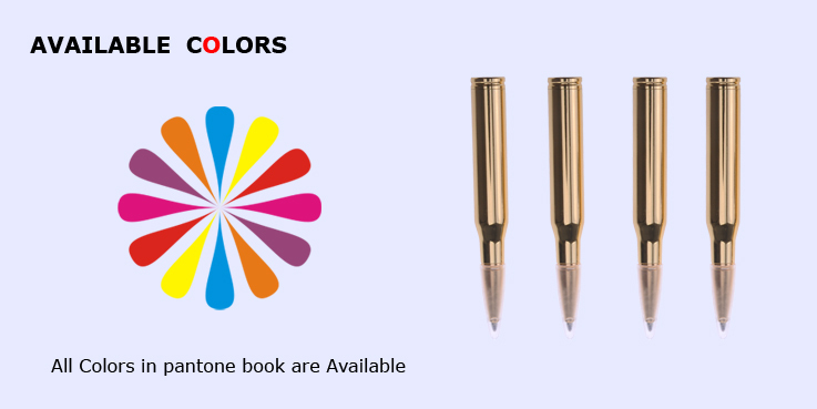 Bullet Shape Pen Imprint Metal Pen Novelty Pen