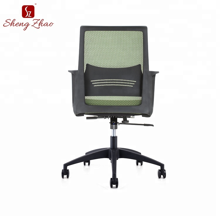 Contemporary swivel soft fabric low back mesh office chair deal
