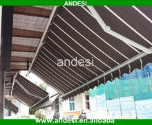 Durable DIY fabric awning retractable roof system