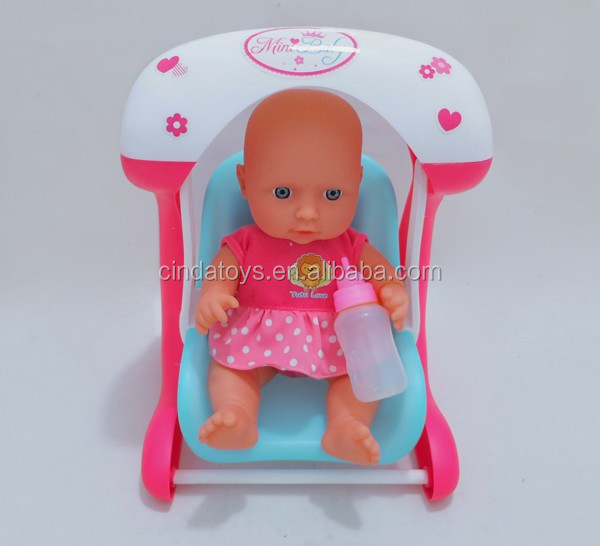 11inch drink milk baby dolls,10 sound IC crying baby dolls with Swing, rubber baby doll for sale