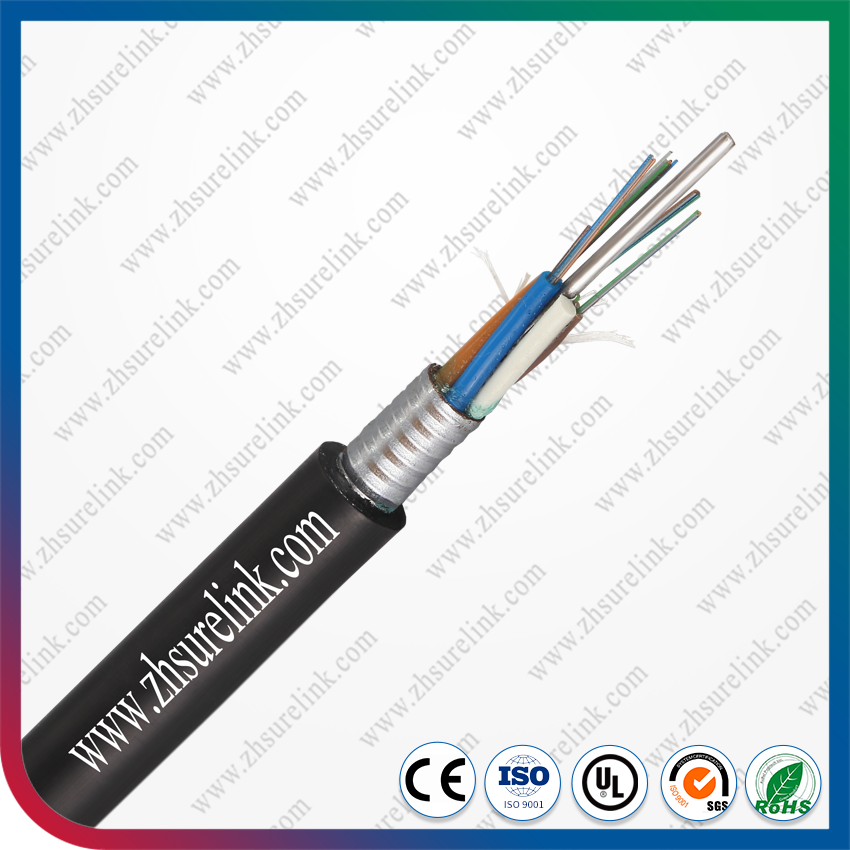 Armoured 12 core fiber optic cable