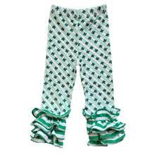 Mardi Gras/детские штаны для девочек детские штаны с тройной оборкой пасхальные штанишки для маленьких девочек детская одежда на День святого В...(Китай)