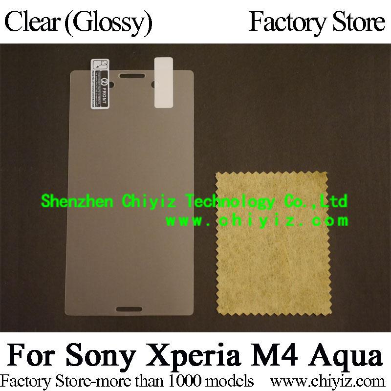 Clear Glossy Screen Protector Guard Cover protective Film For Sony Xperia M4 Aqua E2303 E2312 E2306