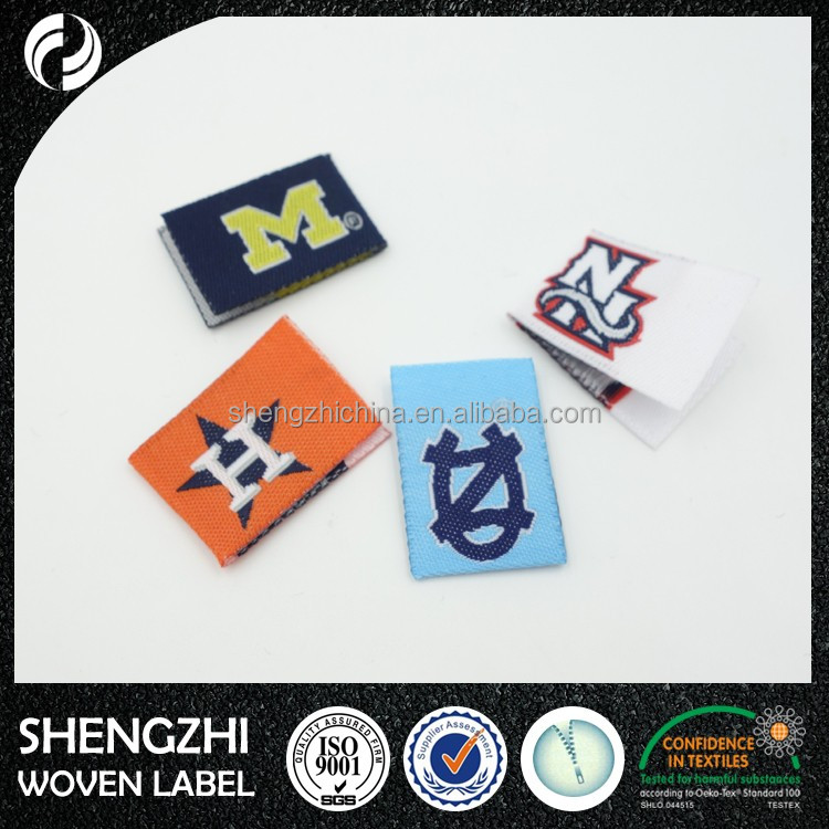 Wholesale clothing brand labels/garment woven labels iron/sew on garment/jeans/t-shirt/suit
