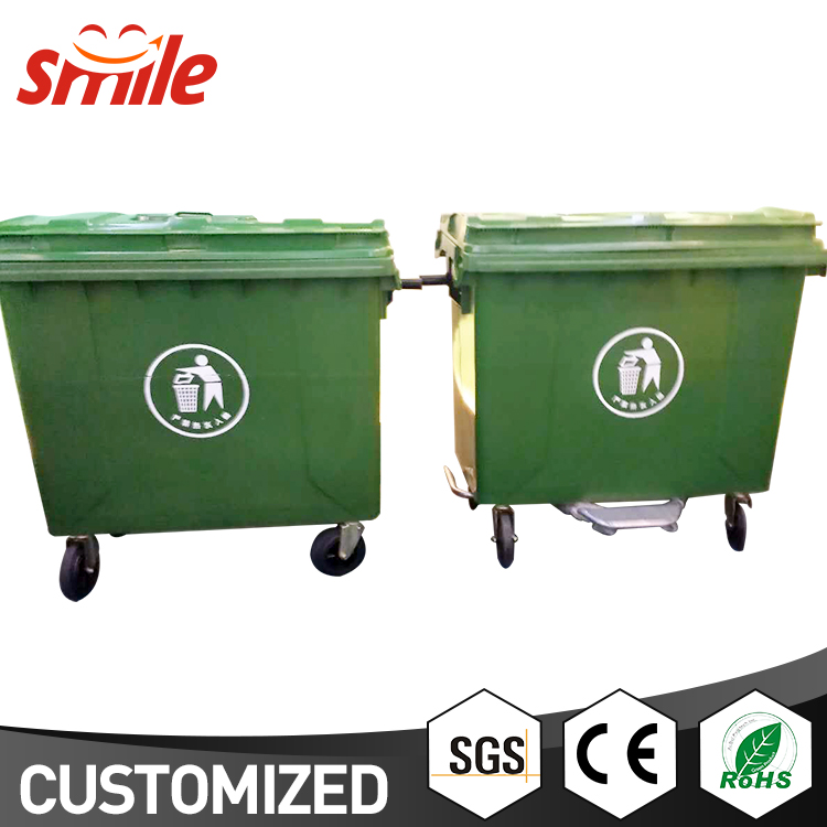 Bulk Trash Cans 1100L Electronic Outdoor Waste Bin