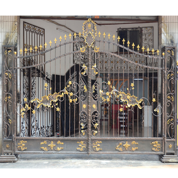 Hs 002 Modern House Entrance Main Masjid Indoor Sliding Wrought Iron