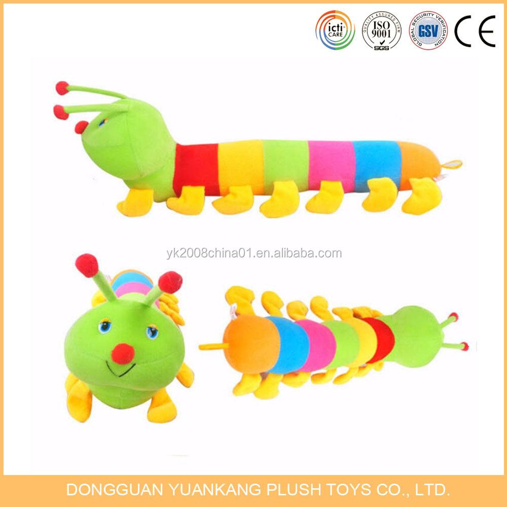 Educational Plush Caterpillar Toy Pillow