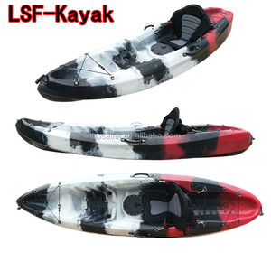2018 China OEM wholesale cheap single sea fishing canoe which is sitting on top of kayak