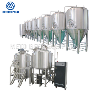 500L New electric beer brewing equipment with whole set beer mash tun and beer fermenting tanks