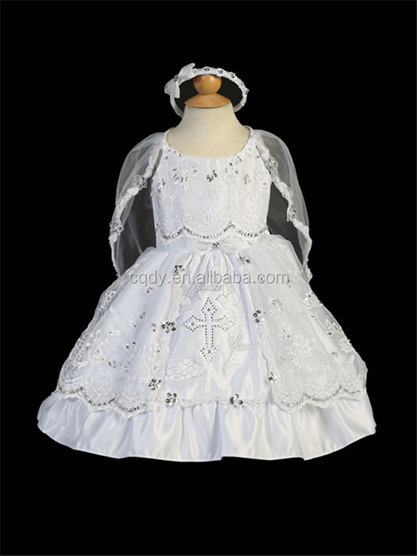 2015 Wholesale White Christening Gowns Dresses For Baby Girl ...