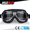 black custom soft leather frame driving moto goggles fashion mx goggles