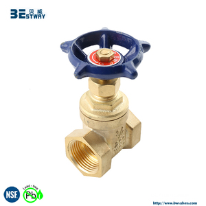 BWVA Passed SGS test non rising stem 4 inch water brass gate valve