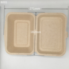 Eco-Friendly Biodegradable Compostable Clamshell Disposable Wheat Straw Lunch Box