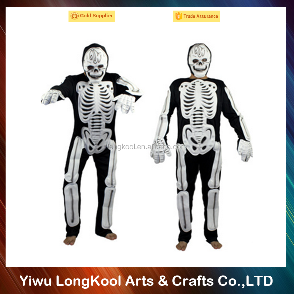 Hungry white ghost skeleton costume halloween cosplay party performance latex costume