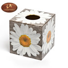 Beauty Daisy Wood Tissue Box, wooden handmade in China perfect in homes/ hotels /offices decoration,funny gift