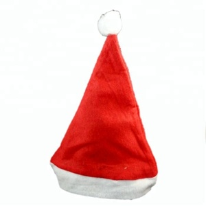 free samples Christmas decoration 2018 Santa Claus hat for adult and child
