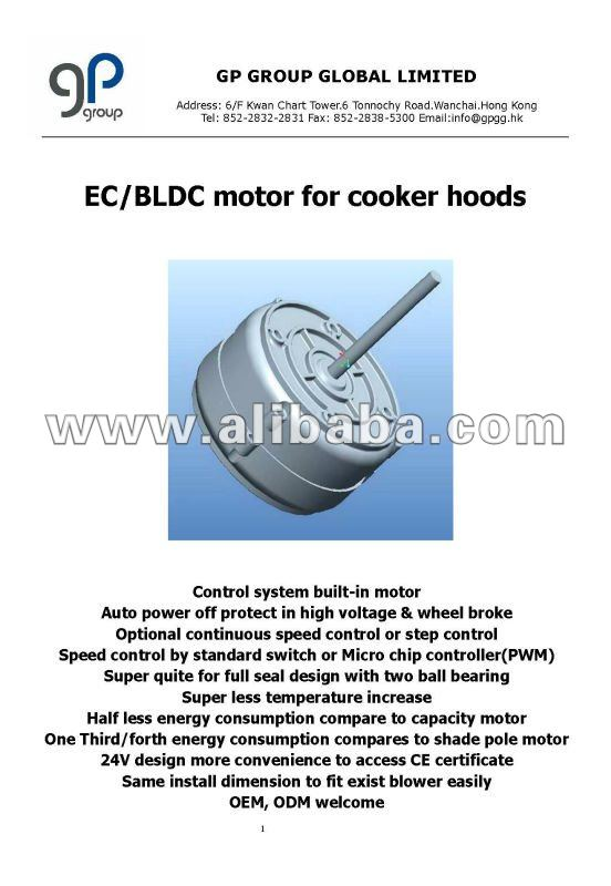 EC/BLDC Motor for cooker hood