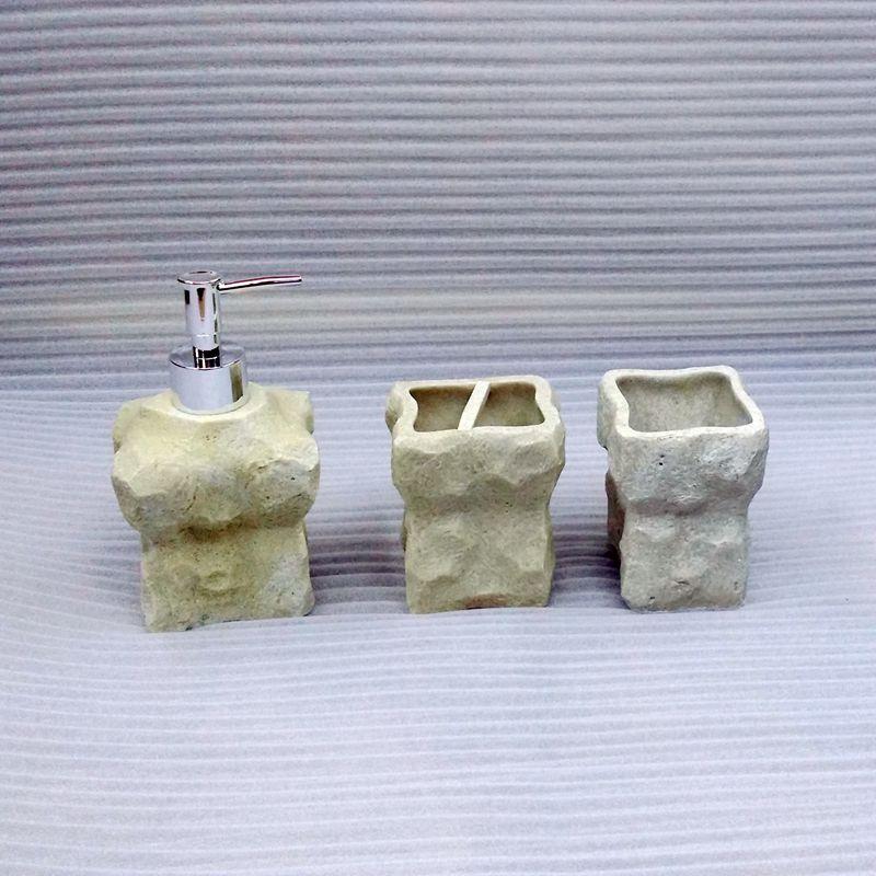 Accesorios de ba o resina for Accesorios bano piedra