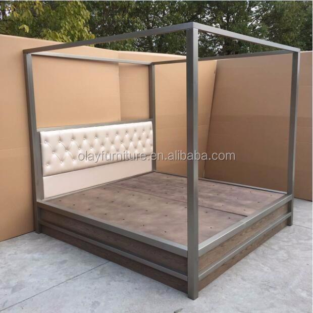 5 estrellas hotel muebles últimas metal acero stainess diseños cama ...