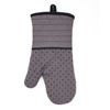 Good looking high end non slip silicone pattern terry cloth oven mitt