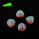 china wholesale colored lab heart opal loose stone for home decoration gems