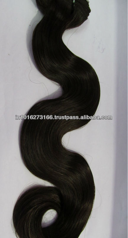 Indian Natural Raw Temple Hair No Chemical Processed Unprocessed Virgin Human Hair