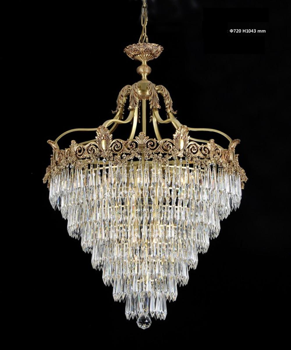 Rokoko Stil Kristall U0026 Goldene Messing Kronleuchter Für Wohnzimmer Hotel  Halle/Elegante Kristall Kronleuchter