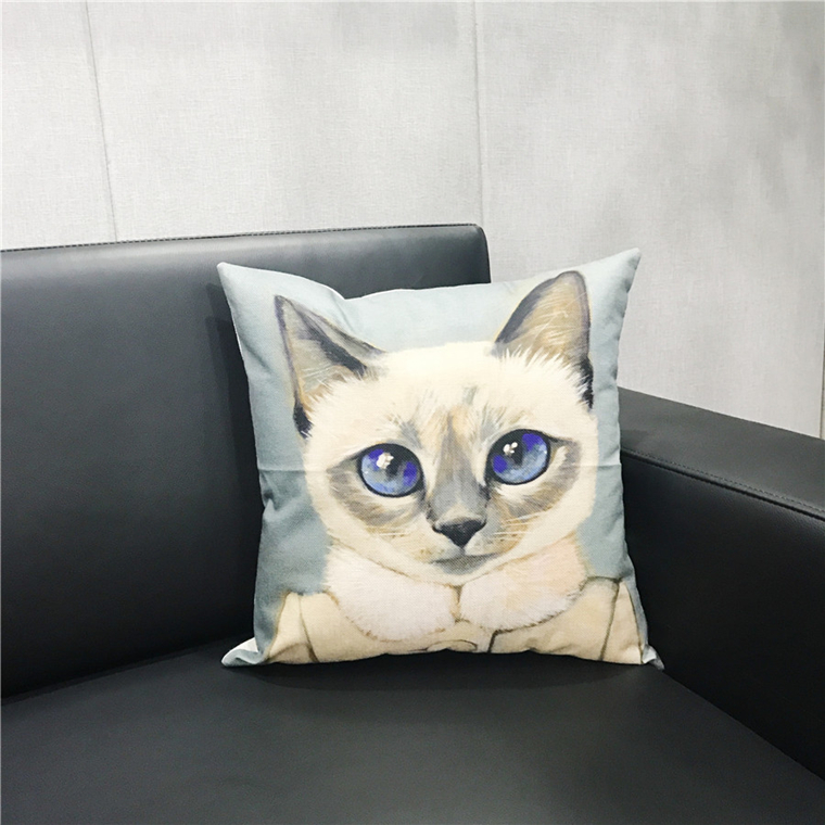 High Quality Sofa Euro 45*45 Custom Print Linen Cushion Cover