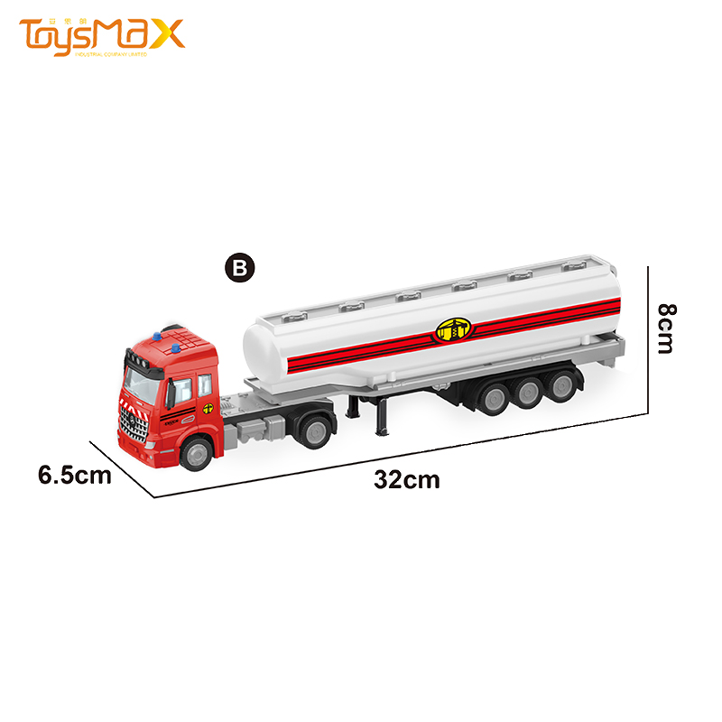China 2019 New hot sale Europe Styles 1:46 Diecast Alloy Toys Truck Trailer Metal Oil Tank Trailer