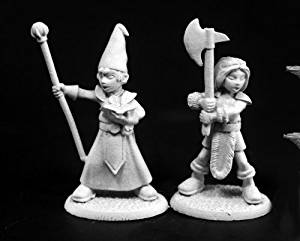 Reaper Adventuring Kids (Townsfolk) #1 (2) #03760 Dark Heaven Unpainted Figure