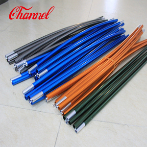 High strength 7075 T9 aluminum flexible tent pole for sale
