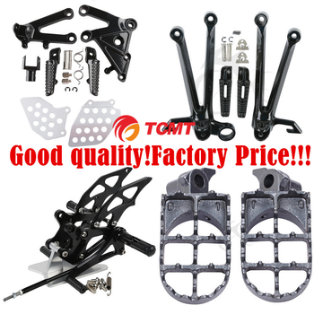 Motorcycles Front & Rear footrest footpegs for Honda for Kawasaki for Yamaha for Suzuki for Harley for Ktm