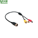 Car Parking Reversing Camera Used 4 Pin Male Aviation cable to RCA DC Cable