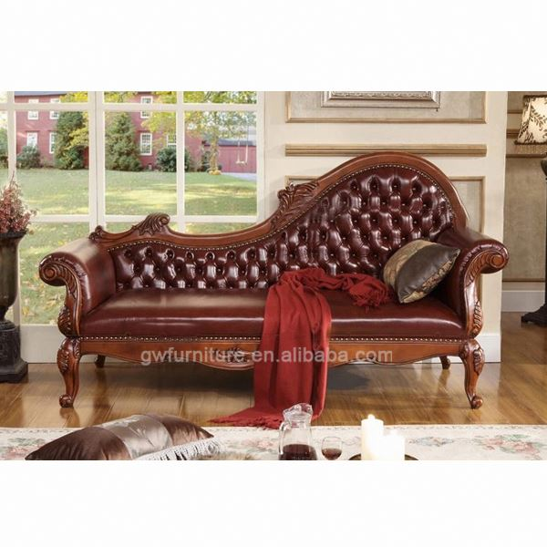 Antique chaise lounge sofa antique hand carved chaise for Antique style chaise lounge