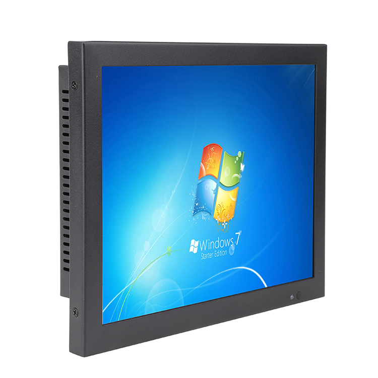 Bestview 9.7/10 inch metalen behuizing LCD monitor 4/5 draden resistive touch of capacitieve touch Industriële monitor