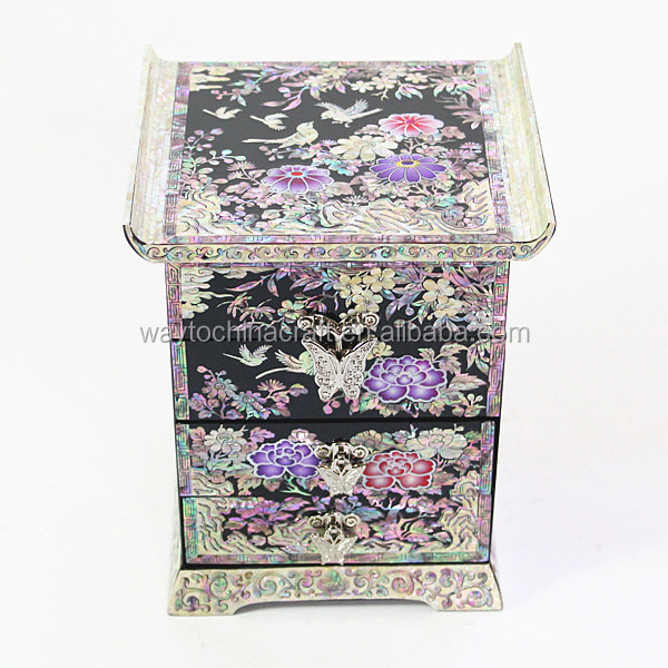 High end chinese antique mirror jewelry box