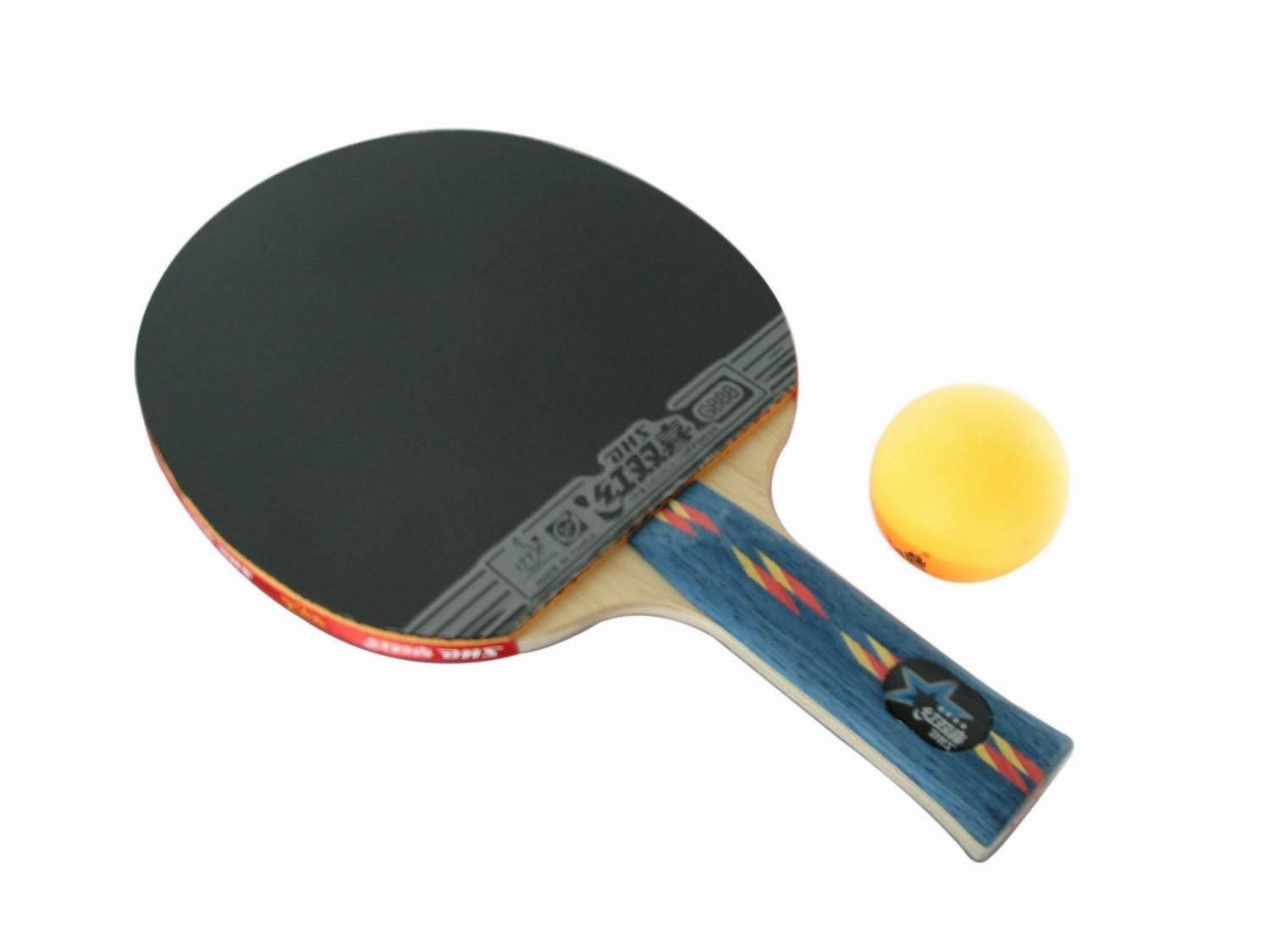 DHS tennis racket Genuine DHS four-star level shake-hands grip table tennis finished 4006 Penhold 4