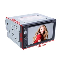 6618B Touch Screen 6.2 Inch 2DIN Car DVD Player GPS Navigation Stereo Radio Support TF USB Multimedia Player